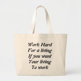 Work hard canvas bags