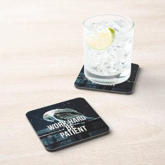 Work Hard, Be Patient - Motivational Beverage Coaster