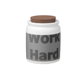 Work hard candy dishes