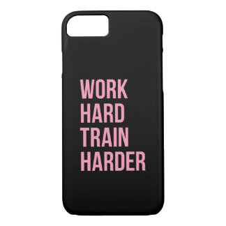 Work Hard Fitness Motivational Quote iPhone 7 Case