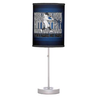 Work Hard Hit Hard - Baseball Desk Lamp
