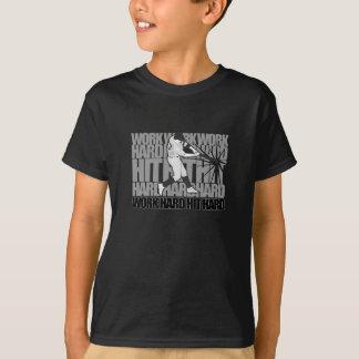 Work Hard Hit Hard - Baseball T-Shirt