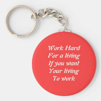 Work hard key chain