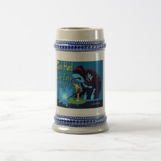 Work Hard, live easy Beer Stein