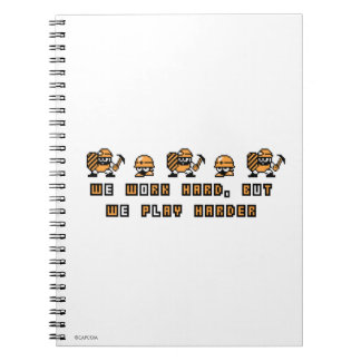 Work Hard, Play Hard 2 Spiral Notebook