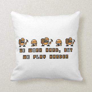 Work Hard, Play Hard 2 Throw Pillow