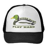 Work Hard Play Hard Mallard Duck Hat