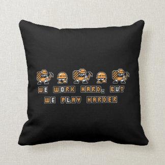Work Hard, Play Hard Throw Pillow