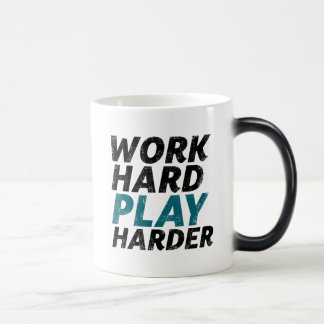 Work Hard Play Harder Funny Gamer and Geek Mug
