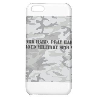 work hard pray hard proud military spouse iPhone 5C case