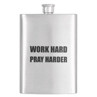 Work Hard Pray Harder Flask