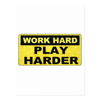 Work Hard Sign.png Post Card