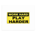 Work Hard Sign.png Postcard