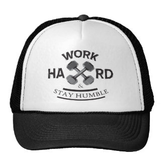 Work Hard Stay Humble - Dumbbell Mesh Hats
