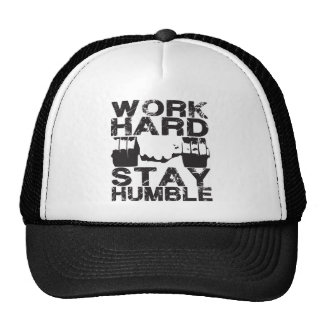 Work Hard Stay Humble - Dumbbell Trucker Hats