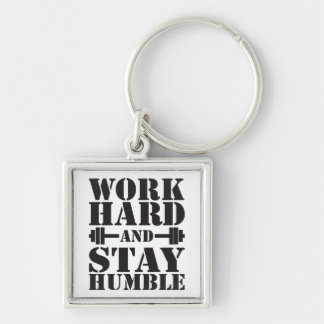 Work Hard Stay Humble - Dumbbell keychain