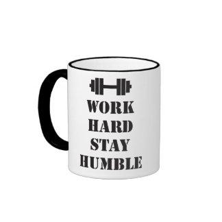 Work Hard Stay Humble - Dumbbell Mugs