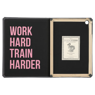 Work Hard Train Fitness Motivational Quote Pink Bl iPad Air Cases