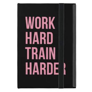 Work Hard Train Fitness Motivational Quote Pink Bl Covers For iPad Mini