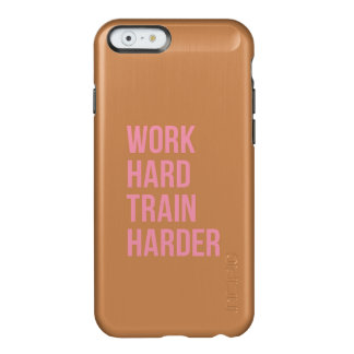 Work Hard Train Harder Fitness Quote Black Pink Incipio Feather® Shine iPhone 6 Case