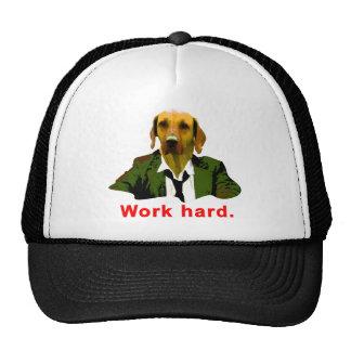 Work hard trucker hat