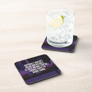 Work Hard - Women's Workout Motivational Drink Coaster