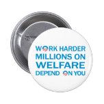 Work Harder ... Anti Obama Button