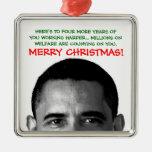 Work Harder Christmas Barack Obama Christmas Tree Ornaments