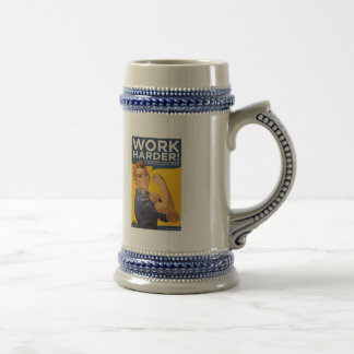 Work Harder! Corporations need your bailout money! 18 Oz Beer Stein