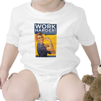 Work Harder Corporations need your bailout money Baby Bodysuits