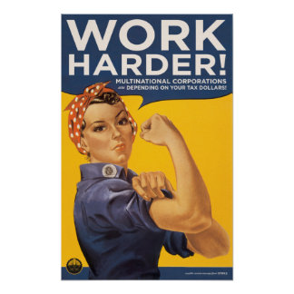work harder! posters