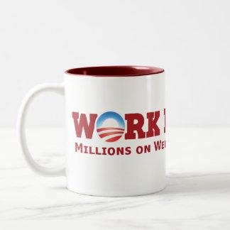 Work Harder Two-Tone Coffee Mug
