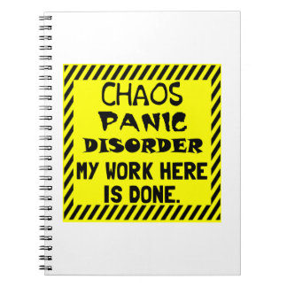 Work Here Done Notebook