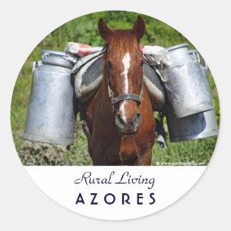 Work horse classic round sticker