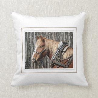 Work Horse Taking a Break Pillow