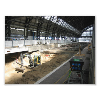 Work in progress Amsterdam Central Station Photographic Print