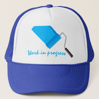 Work In Progress Blue Trucker Hat