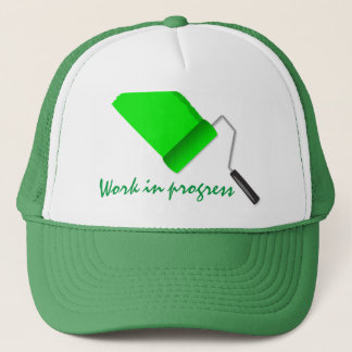 Work In Progress Green Trucker Hat