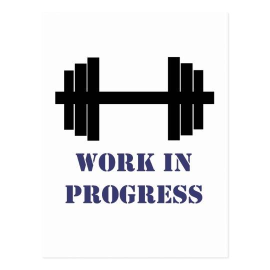 Work In Progress Gym Postcard
