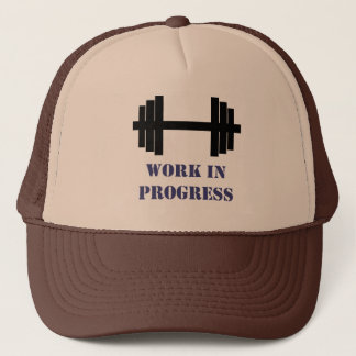 Work In Progress Gym Trucker Hat