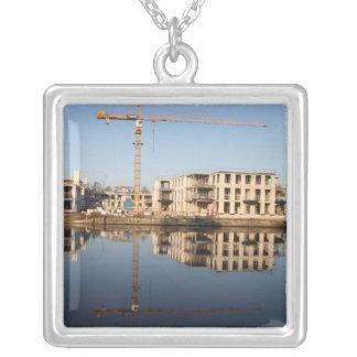 Work in progress square pendant necklace