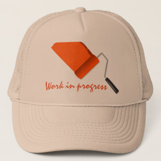 Work In Progress Orange Trucker Hat