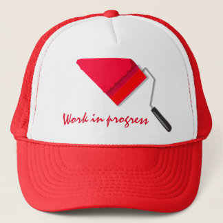 Work In Progress Red Trucker Hat
