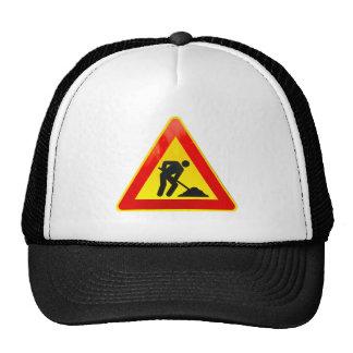 Work in progress sign trucker hat