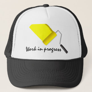 Work In Progress Yellow Trucker Hat