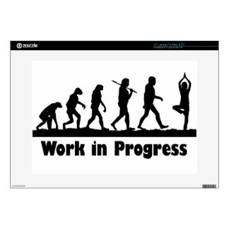 "Work in Progress (Yoga) 15"" Laptop Decal"