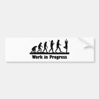 Work in Progress (Yoga) Bumper Sticker