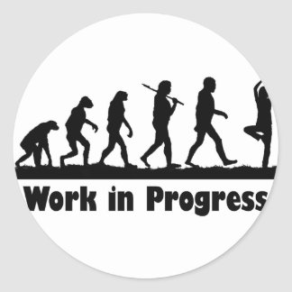 Work in Progress (Yoga) Classic Round Sticker