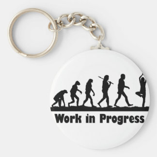 Work in Progress (Yoga) Keychains