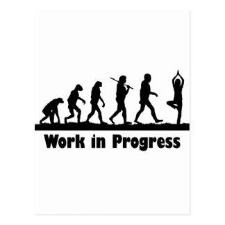 Work in Progress (Yoga) Postcard